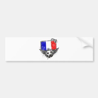 Soccer fan France Bumper Sticker