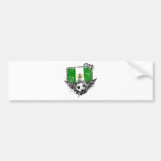 Soccer fan Nigeria Bumper Stickers