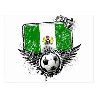 Soccer fan Nigeria Post Card