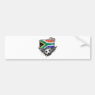 Soccer fan South Africa Bumper Sticker