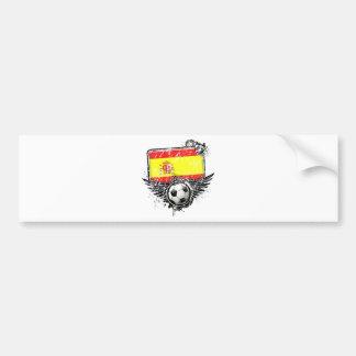 Soccer fan Spain Bumper Sticker