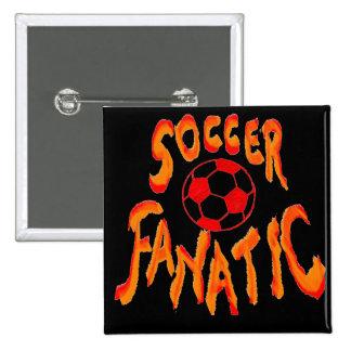 Soccer Fanatic 15 Cm Square Badge
