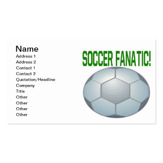 Soccer Fanatic Pack Of Standard Business Cards