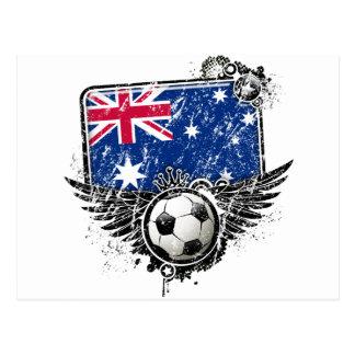 Soccer fans Australia Postcard