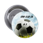 Soccer fans button