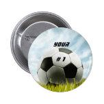 Soccer fans pinback buttons