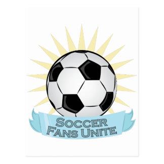 Soccer Fans Unite Postcard