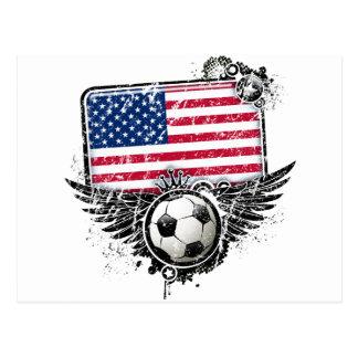 Soccer fans USA Post Card
