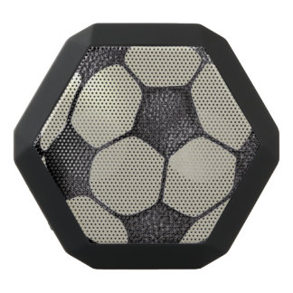 Soccer Faux Leather Design Black Bluetooth Speaker