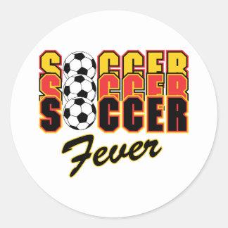 Soccer Fever Classic Round Sticker