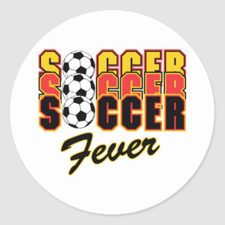 Soccer Fever Classic Round Sticker