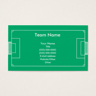 Soccer Field Business Card