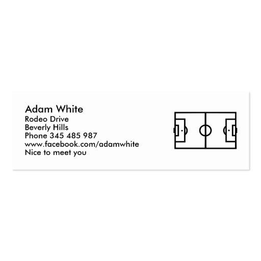 Soccer field business card template