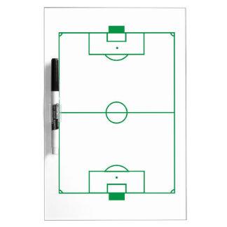 Soccer field clipboard dry erase board