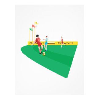 Soccer Field Personalized Flyer