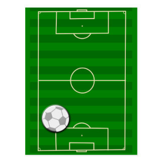Soccer Field Football Postcard