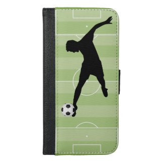 Soccer field footballer iPhone 6/6s plus wallet case
