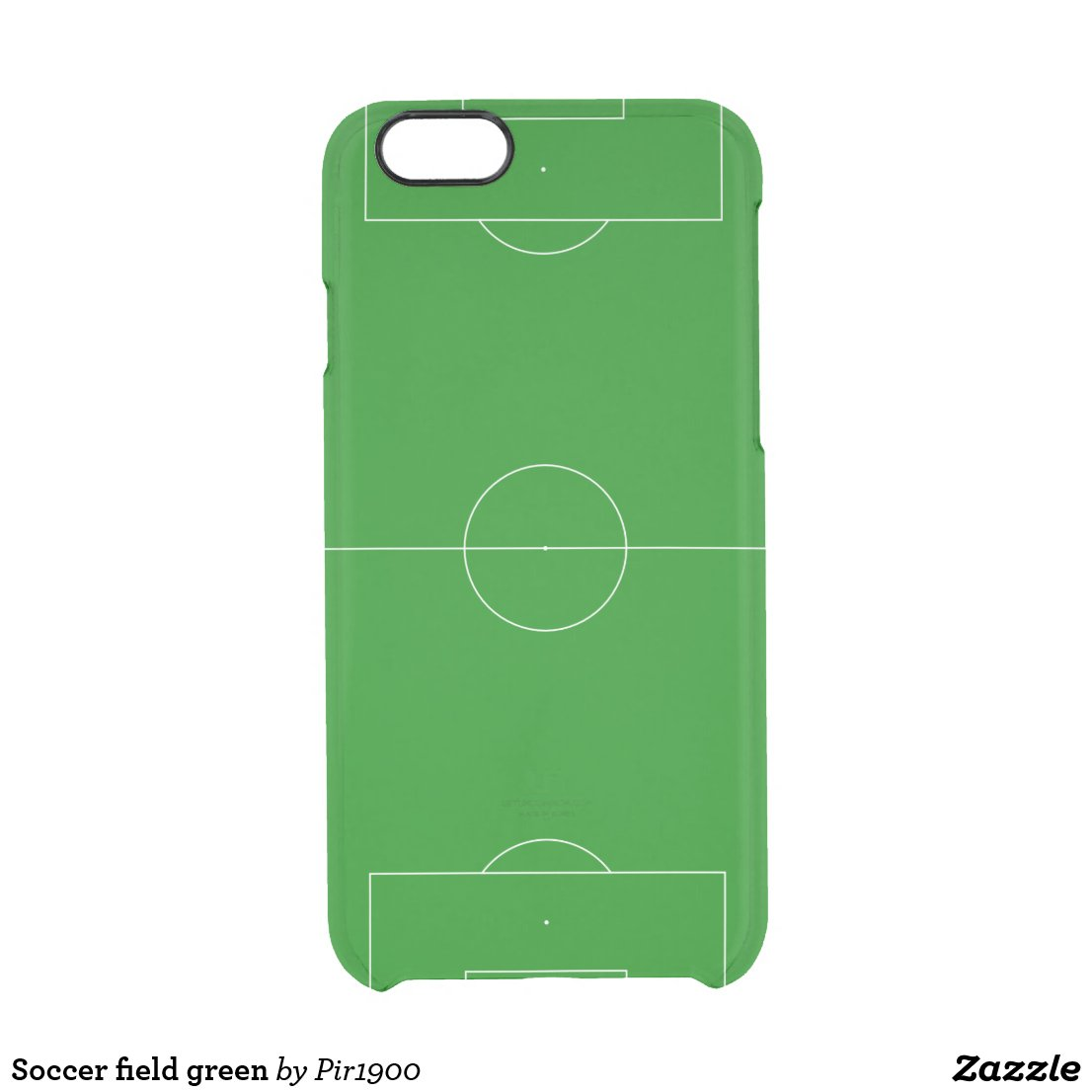 Soccer field green clear iPhone 6/6S case
