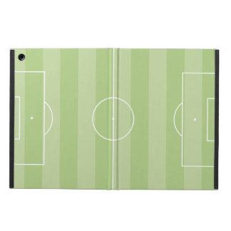 Soccer field green iPad air case