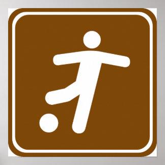 Soccer Field Highway Sign
