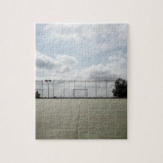 Soccer field in Barcelona, Spain Jigsaw Puzzle