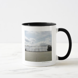 Soccer field in Barcelona, Spain Mug