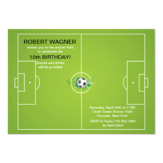 Soccer Field Invitations