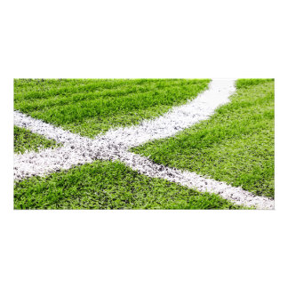 Soccer field lines photo cards