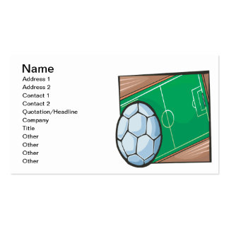 Soccer Field Pack Of Standard Business Cards