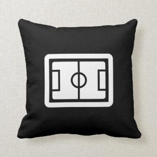 Soccer Field Pictogram Throw Pillow