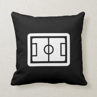 Soccer Field Pictogram Throw Pillow Cushions
