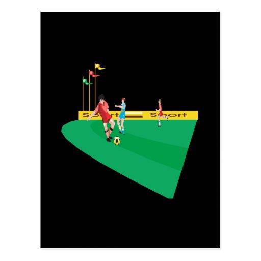 Soccer Field Postcard
