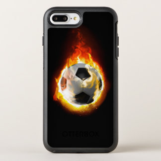 Soccer Fire Ball OtterBox Symmetry iPhone 7 Plus Case
