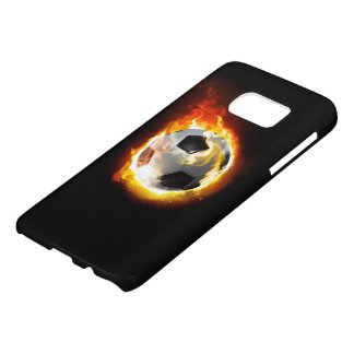 Soccer Fire Ball Samsung Galaxy S7 Case