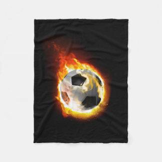 Soccer Fire Ball Small Fleece Blanket