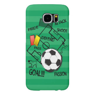 Soccer Football Attack Goal Samsung Galaxy S6 Cases