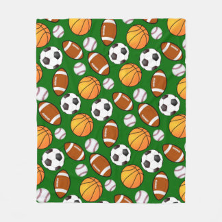 Soccer Football Baseball basketball Sports theme Fleece Blanket