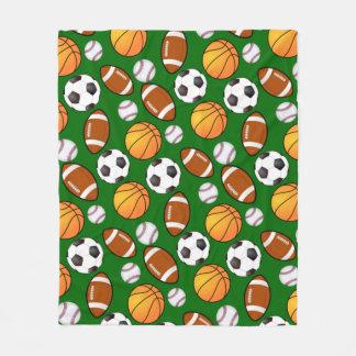Soccer Football Baseball basketball Sports theme Fleece Blanket