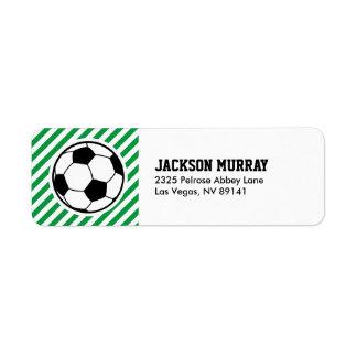 Soccer Football Birthday Baby Shower Party Return Address Label