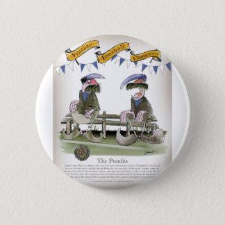 soccer football blues pundits 6 cm round badge