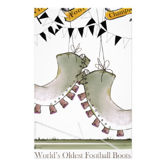 soccer football boots b + w team stationery