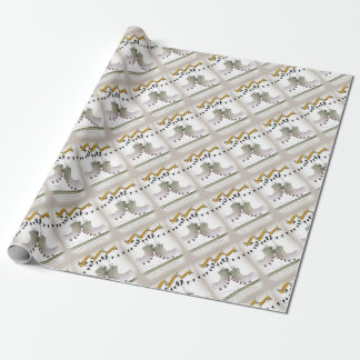 soccer football boots b + w team wrapping paper