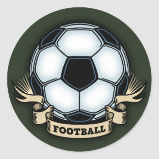 Soccer Football Classic Round Sticker