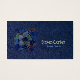 Soccer Football Coach Ball Player Blue Card