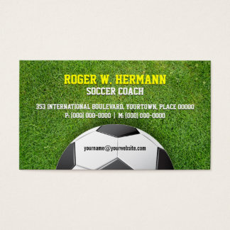 Soccer Football Coach Business Card