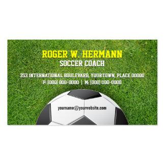 Soccer Football Coach Business Card Template
