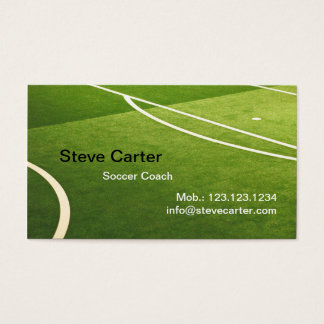 Soccer , Football Coach or Player Green Grass Card