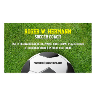 Soccer Football Coach Pack Of Standard Business Cards