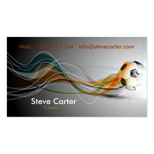 Soccer / Football Coach / Player Business Card