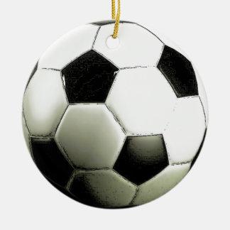 Soccer - Football Round Ceramic Decoration